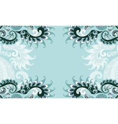 frame blue paisley style vector image