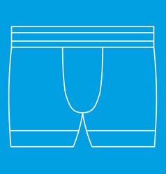Boxer brief underwear icon outline style vector