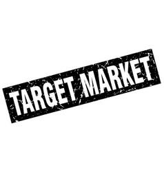 Square grunge black target market stamp vector
