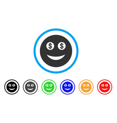 Business smiley icon vector