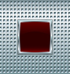 Glossy square screen vector
