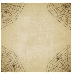 Halloween vintage background with spider web vector
