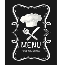 Menu food and drinks sign vector