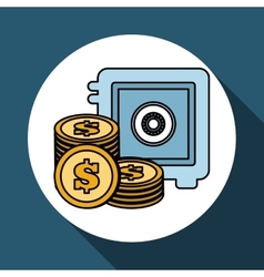 Money icon over white background vector