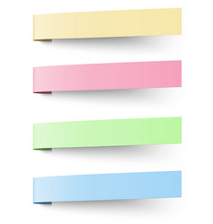 Yellow red blue and green sticky notes vector