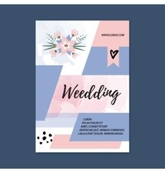 Wedding brochure blank template front page vector