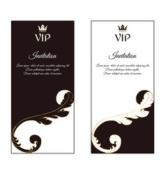 A set of two vertical elegant flyers for vip vector