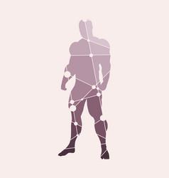 Abstract of bodybuilder vector