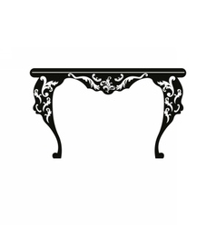 Baroque rich table with ornaments vector