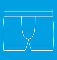 Boxer brief underwear icon outline style vector