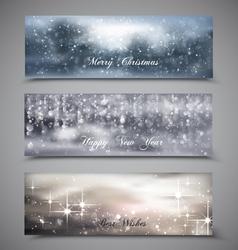 Christmas Banners Set 4 vector image vector image