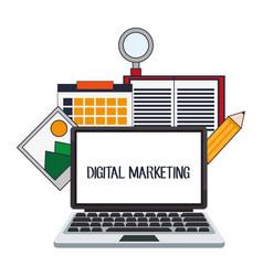 Digital marketing website internet design vector