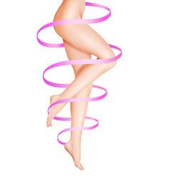 Female legs care vector