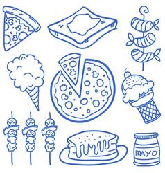 food set various of doodles vector image
