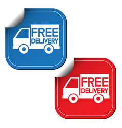 free delivery labels or stickers vector image vector image