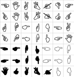 Hand icon set vector