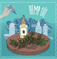 Hemp seed oil used as grease lubricant vector