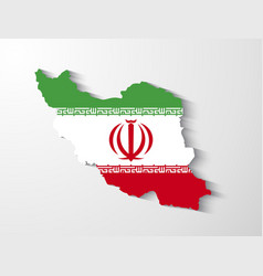Iran map with shadow effect presentation vector image vector image