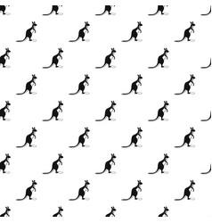 Kangaroo pattern vector