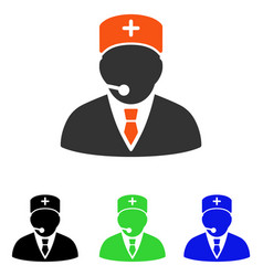 Medical manager flat icon vector