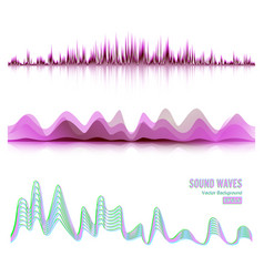 Music sound waves pulse abstract digital vector