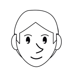 Pictogram young face guy smile vector