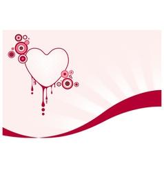 Pink graphic heart vector