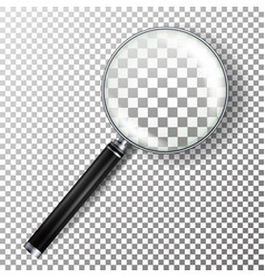 realistic magnifying glass isolated on vector image vector image