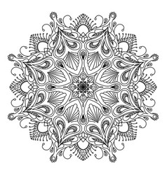 round decorative floral mandala element on white vector image