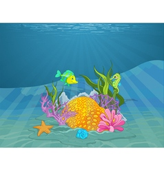 Seabed vector image vector image