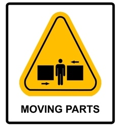 Set of danger Moving Parts signs vector image vector image