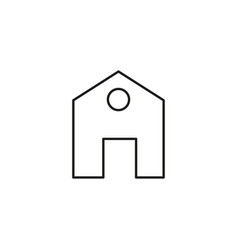 simple house icon vector image vector image