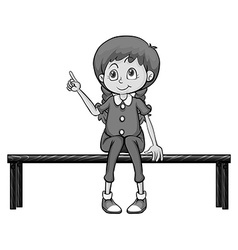 Sitting vector image