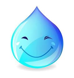 Smiling Drop Of Water vector image