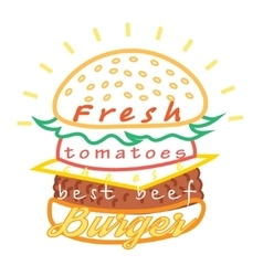 Tasty burger food menu vector image vector image
