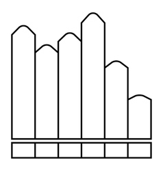 Vertical chart icon outline style vector
