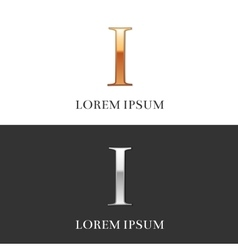 1 i luxury gold and silver roman numerals sign vector