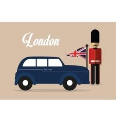 Soldier car london england design vector