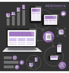 Infographics for responsive design vector