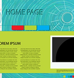 Web page graphic vector