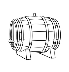 Line sketch of barrel vector image