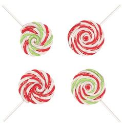 Christmas lollipops set2 vector