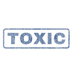 Toxic textile stamp vector