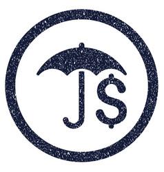 financial umbrella rounded grainy icon vector image