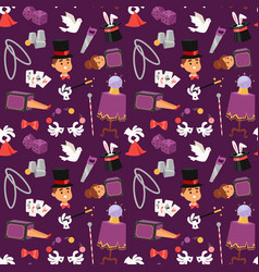 magician seamless pattern vector image