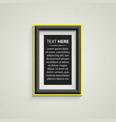 Classis frame on the wall vector