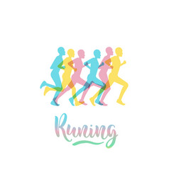Athletes runners vector