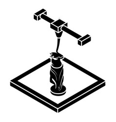 Statue d printing icon simple style vector