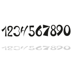 Hand drawn numbers vector image