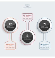 Glossy colorful plastic buttons for infographic vector